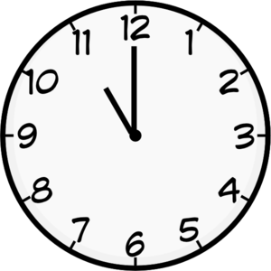 00 00 am clock clipart