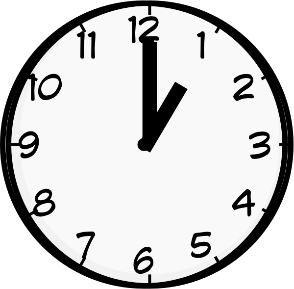 1 05 clock clipart svg free download 1 O Clock Clip Art at Clker.com - vector clip art online, royalty ... svg free download