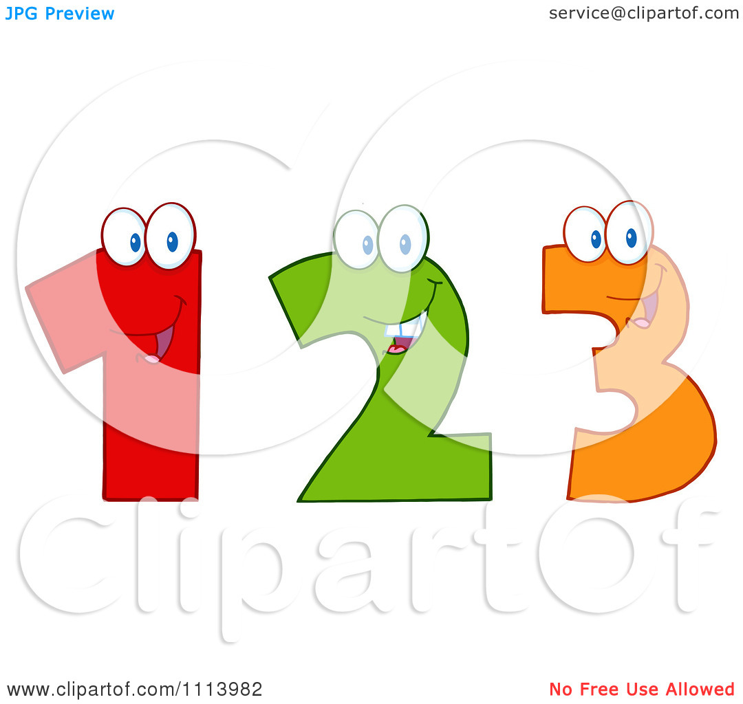 Clipart Happy 1 2 And 3 Numbers - Royalty Free Vector Illustration ... svg stock
