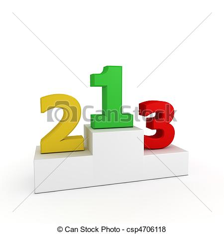 Clipart of Victory Podium - Roman Numbers 1, 2, 3 - Gold, Silver ... freeuse download