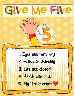 1 2 3 eyes on me clipart jpg royalty free download 17 Best ideas about Give Me 5 on Pinterest | Classroom rules ... jpg royalty free download