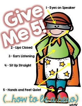 1 2 3 eyes on me clipart image download 17 Best ideas about Give Me 5 on Pinterest | Classroom rules ... image download