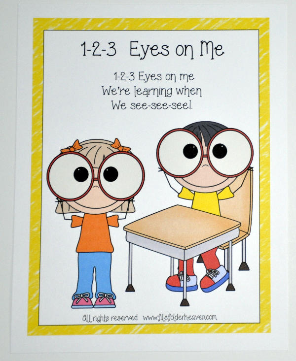 1 2 3 eyes on me clipart image download 1-2-3 Eyes on Me Poster - It's Free! : File Folder Games at File ... image download