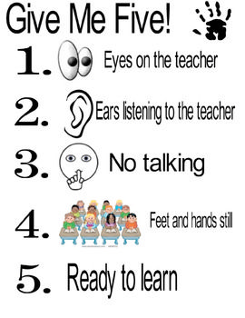 1 2 3 eyes on me clipart picture transparent 17 Best ideas about Give Me 5 on Pinterest | Classroom rules ... picture transparent