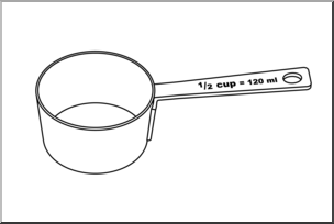 1 2 cup clipart svg transparent Clip Art: Measuring Cups: Half Cup B&W I abcteach.com | abcteach svg transparent