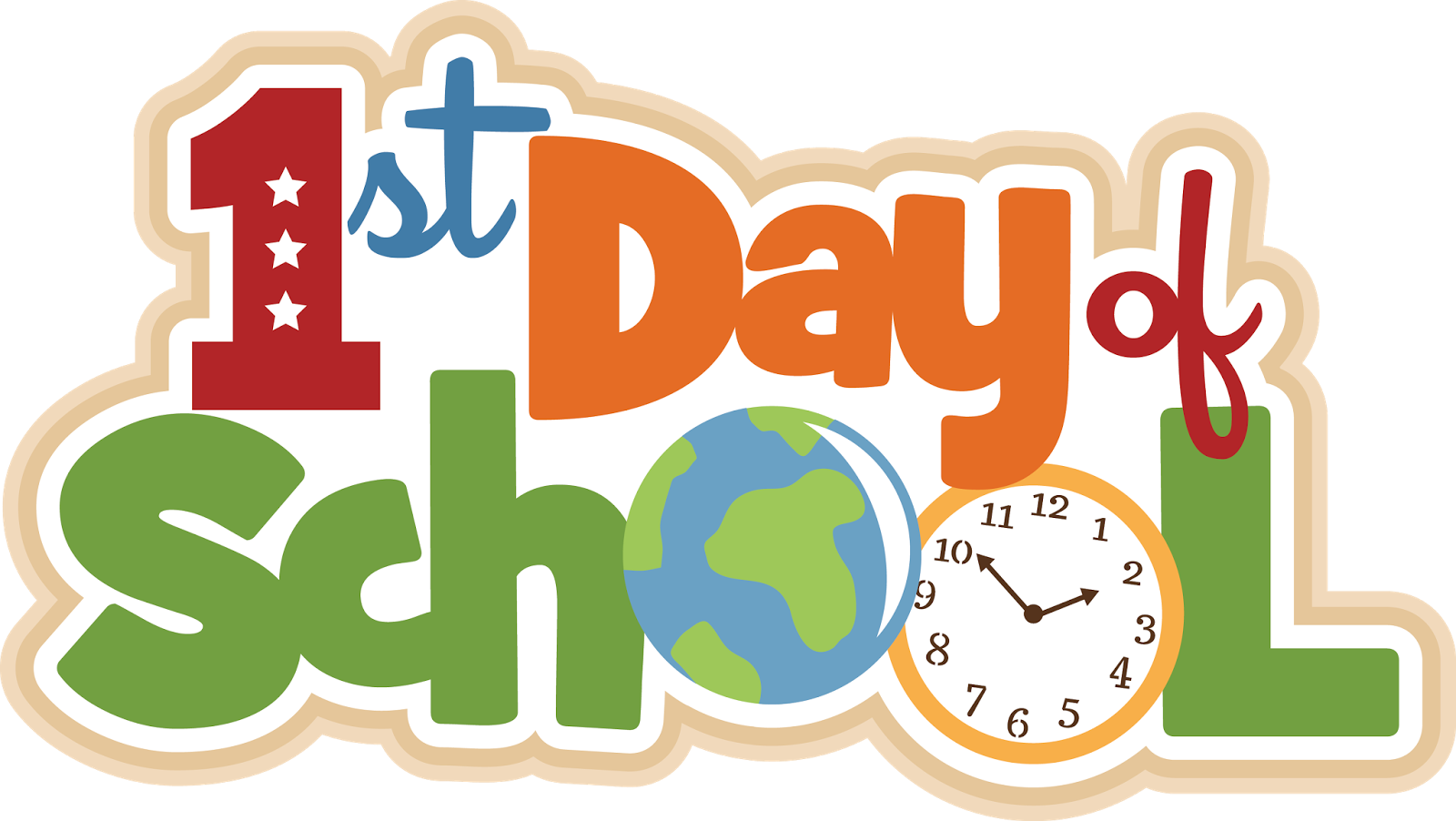 1 2 day of school clipart transparent background clip art black and white 1st Day Of School Clipart | Free download best 1st Day Of School ... clip art black and white
