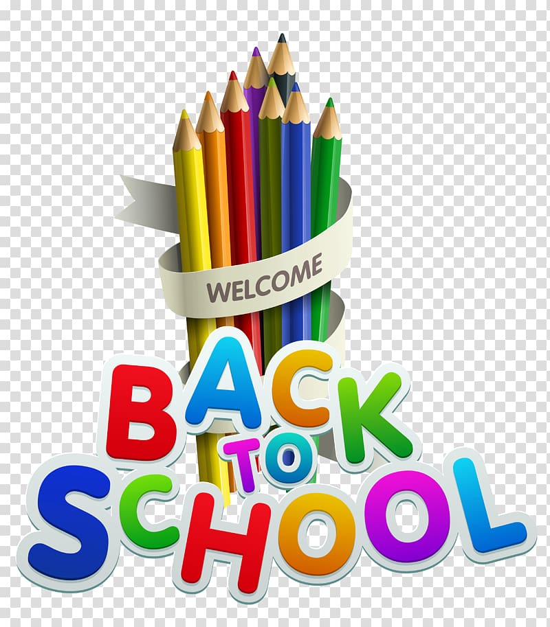 1 2 day of school clipart transparent background image royalty free library Back to School Decor, welcome back to school pencils illustration ... image royalty free library