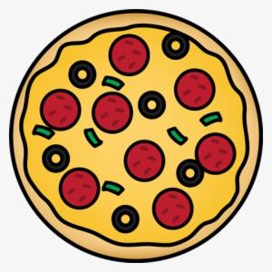 1 2 pizza clipart