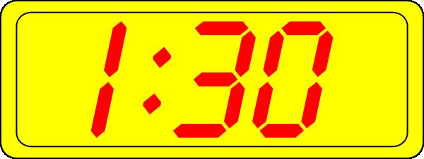 1 am clipart clock svg stock Digital Clock 1:30 Clip Art at Clker.com - vector clip art online ... svg stock