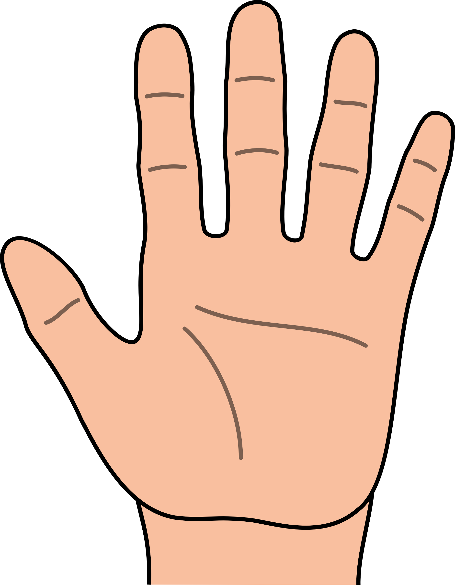 1 5 fingers clipart