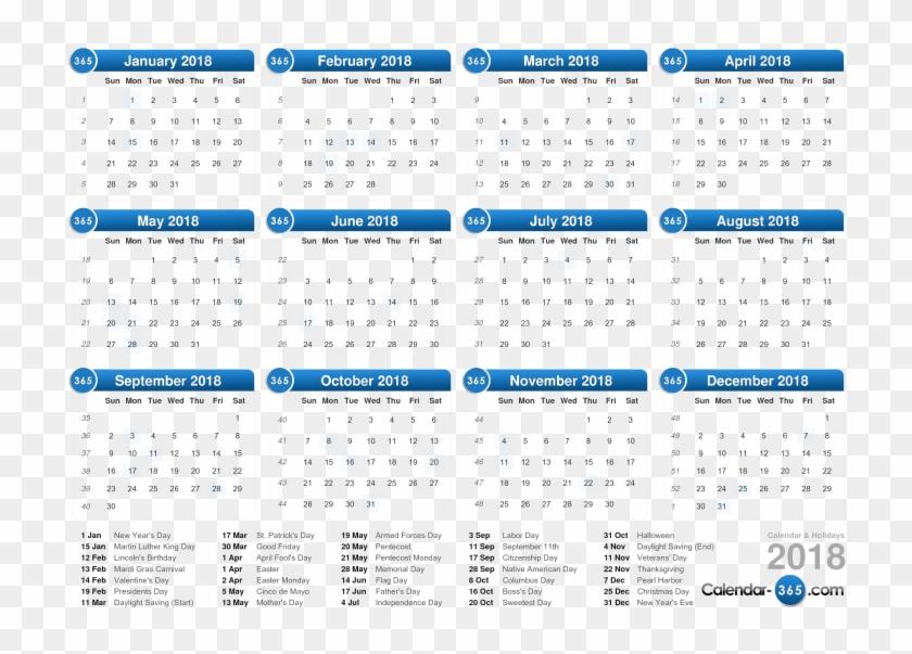 1 a week clipart transparent stock Download 2018 Calendar Png Clipart Background - Current Week Number ... transparent stock