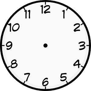 1 am clipart clock png black and white library Printable Analog Clock | Shared By: Iyo 12-01-2009 | DIY | Blank ... png black and white library