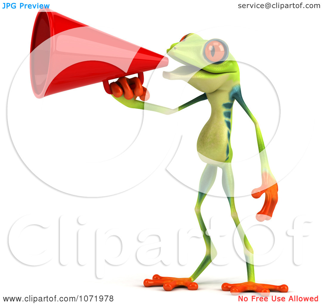 1 anno clipart clipart transparent download Clipart 3d Argie Frog Announcing With A Megaphone 1 - Royalty Free ... clipart transparent download