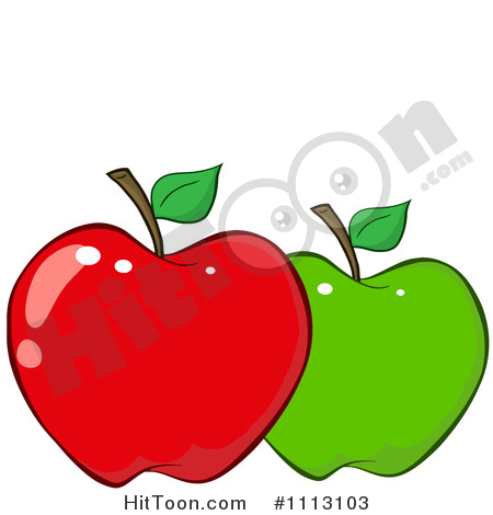 Royalty free stock illustrations. 1 apple clipart