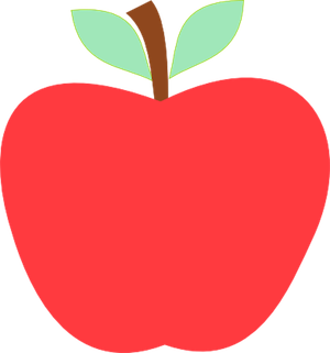 Red clip art images. 1 apple clipart