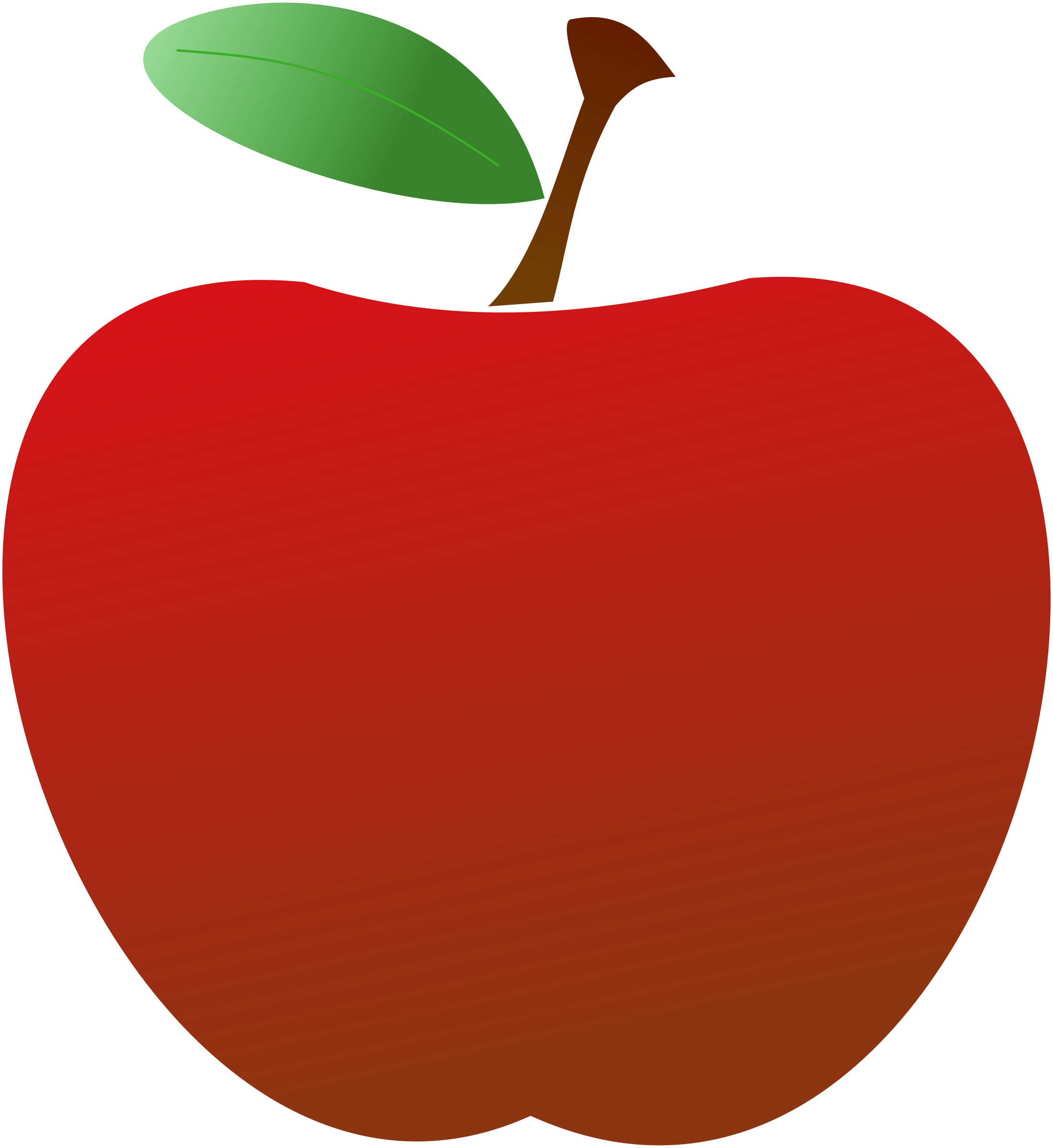 Book apple clipart vector freeuse Red Apple Clipart & Red Apple Clip Art Images - ClipartALL.com vector freeuse