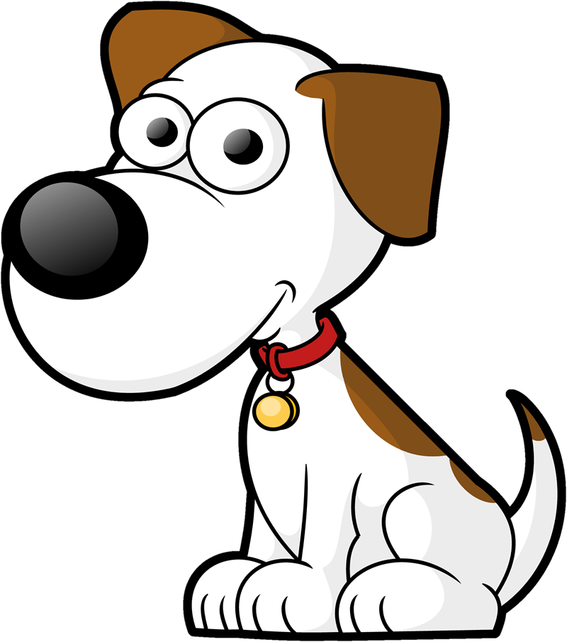 Clipart dog collar library 1 big 1 small dog cartoon clipart - ClipartFest library