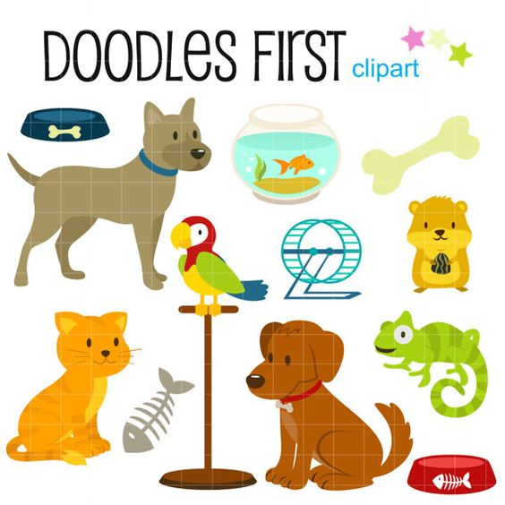 1 big 1 small dog cartoon clipart banner Petshop Animals and Accesories Digital Clip Art for Scrapbooking ... banner