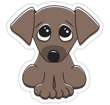 1 big 1 small dog cartoon clipart svg free library Puppy Dog Eyes Clipart svg free library