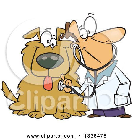 1 big 1 small dog cartoon clipart clip freeuse library Royalty Free Stock Illustrations of Veterinarians by Ron Leishman ... clip freeuse library