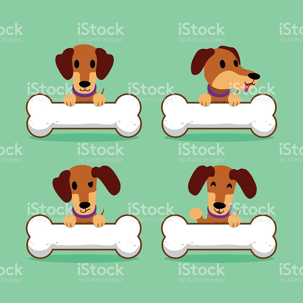 1 big 1 small dog cartoon clipart clip transparent stock Cartoon Character Brown Dachshund Dog With Big Bones stock vector ... clip transparent stock