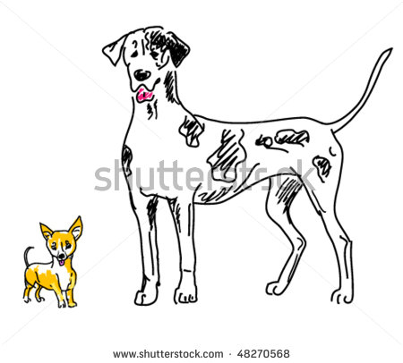 1 big 1 small dog cartoon clipart clip art black and white download 1 big 1 small dog cartoon clipart - ClipartFest clip art black and white download