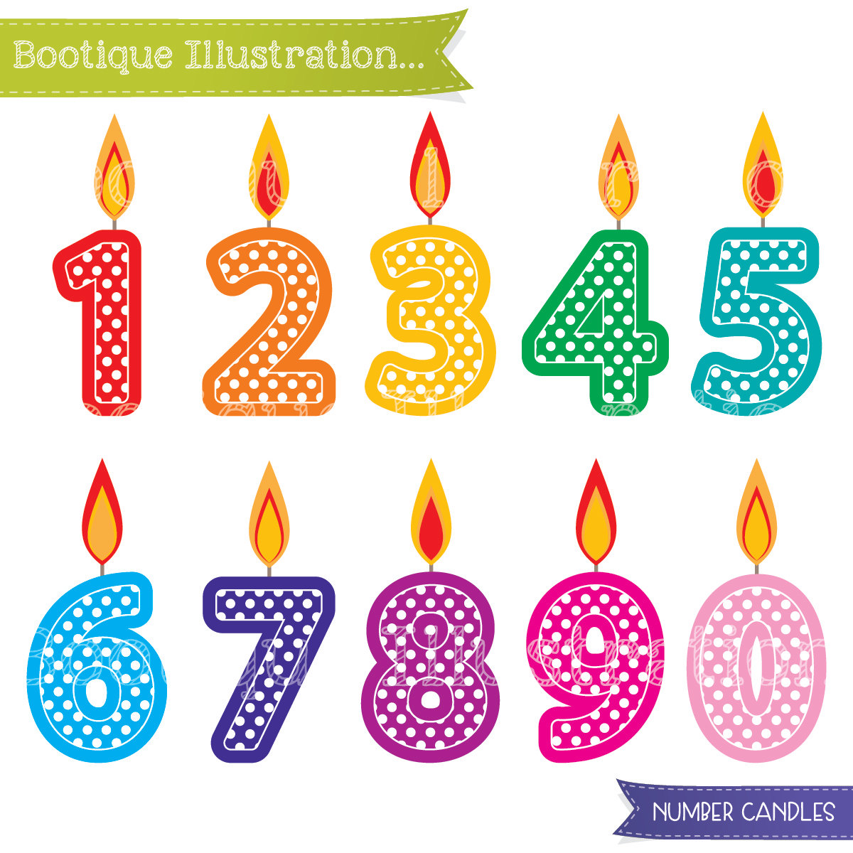 1 birthday candle clipart graphic transparent stock Birthday Clip Art | Boo-tique Illustration Clipart graphic transparent stock