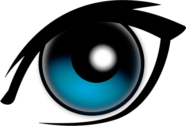 1 blue eye clipart. Free color page of
