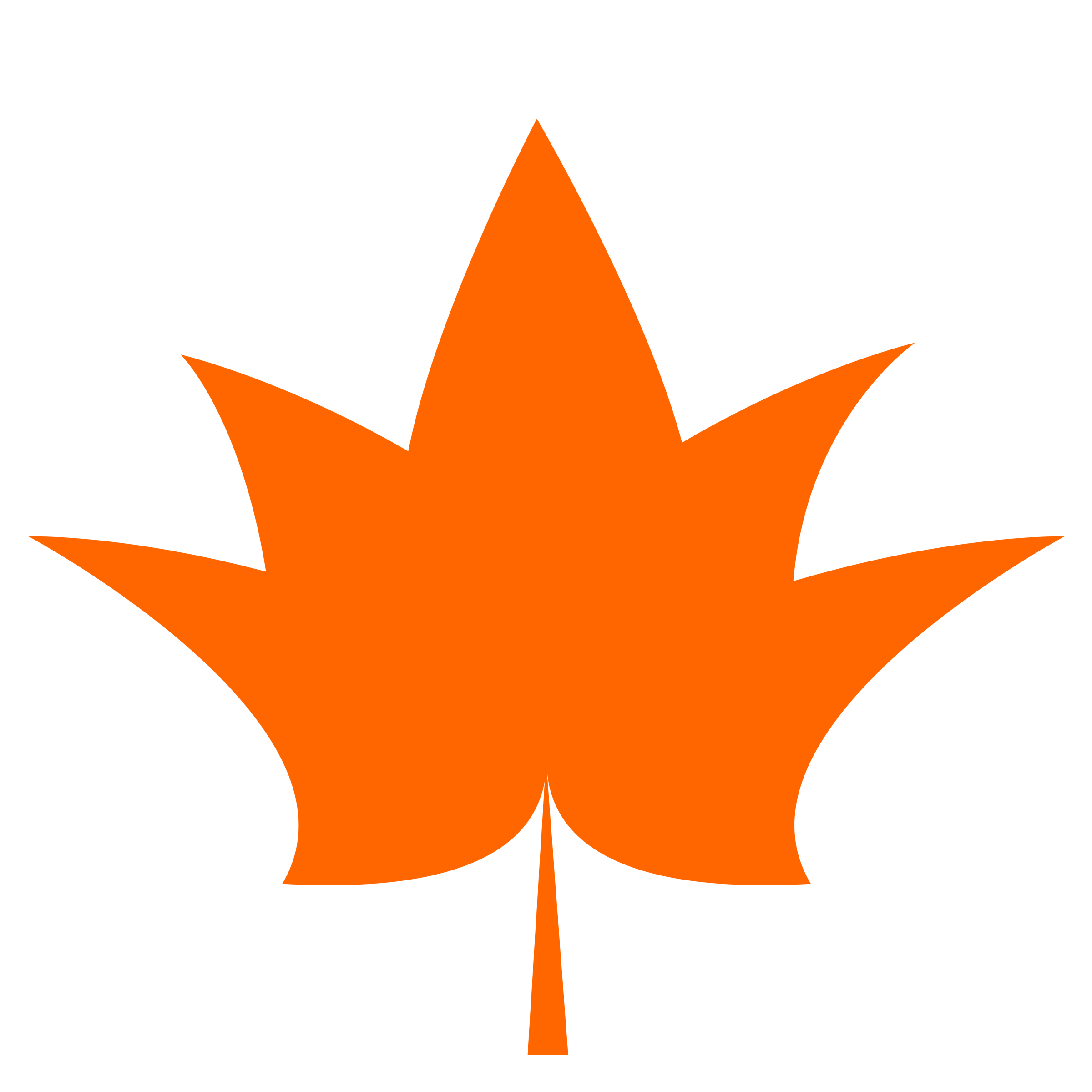 1 color clipart. Maple leaf one flat