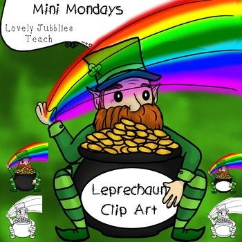 1 color leprechaun clipart clip black and white A colorful mini set of clip art containing a jolly ol' leprechaun ... clip black and white