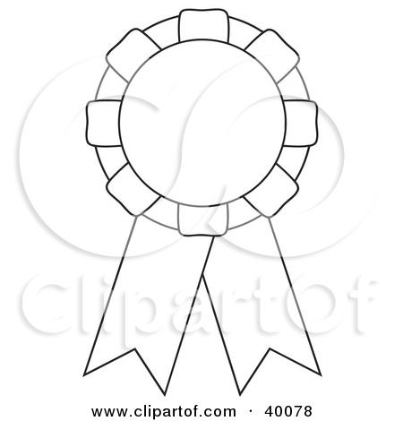1 color ribbon clipart. Royalty free award illustrations