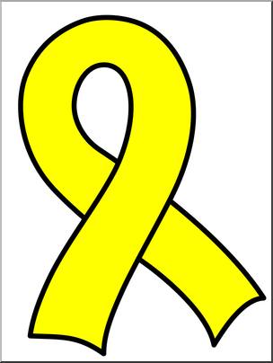 1 color ribbon clipart image royalty free Clip Art: Ribbon 1 Color Yellow | abcteach image royalty free