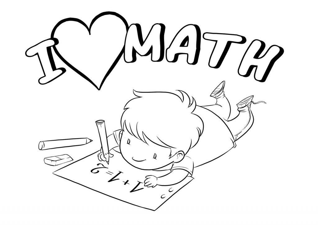 1 coloring clipart clipart black and white Math Coloring Pages | kids stuff | Coloring pages for kids, Math ... clipart black and white