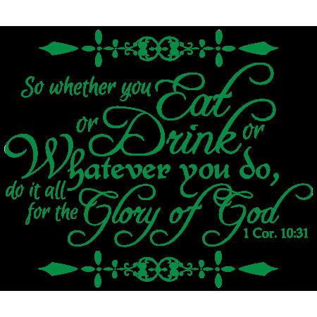 1 cor 1 18 clipart clip freeuse 1 Corinthians 10:31 - So whether you eat, drink… Vinyl Decal Sticker  Quote - Medium - Green - Walmart.com clip freeuse