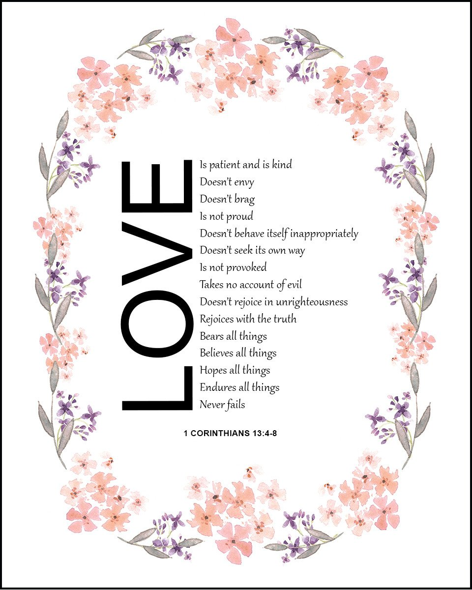 1 corinthians 3 clipart svg transparent download 1 Corinthians 13:4-8 Love Is Patient - Free Bible Verse Art ... svg transparent download