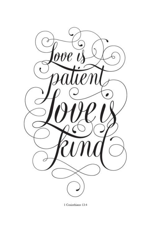 "Love is patient love is kind clipart png stock 1 Corinthians 13:4 - ""Love is patient, love is kind"" by Cory Say ... png stock"