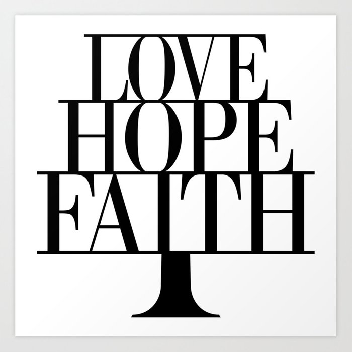 1 corinthians 13 black and white clipart clip free download Faith Hope love,Christian,Bible Quote, 1 Corinthians 13:13 Art Print by  emmanuel_love clip free download