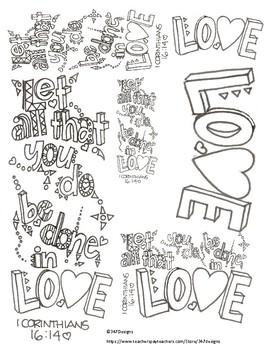 1 corinthians 13 black and white clipart image freeuse Corinthians Worksheets & Teaching Resources | Teachers Pay Teachers image freeuse