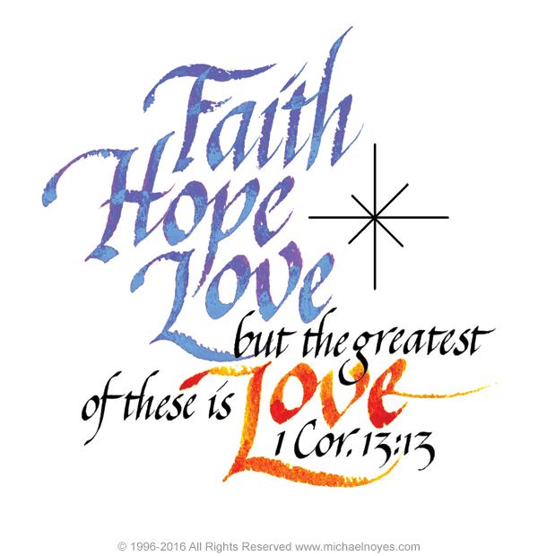 Faith Hope Love 1 Corinthians 13 13 Calligraphy Art Plaques ... svg transparent stock