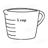 1 cup measuring cup clipart