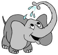 1 elephant clipart graphic black and white Elephant clipart - Clipartix graphic black and white
