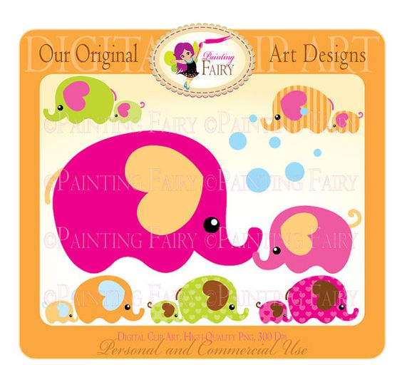1 elephant clipart vector freeuse library Cliparts Buy 2 get 1 Free Mom and Baby Elephant clip art Bubbles ... vector freeuse library