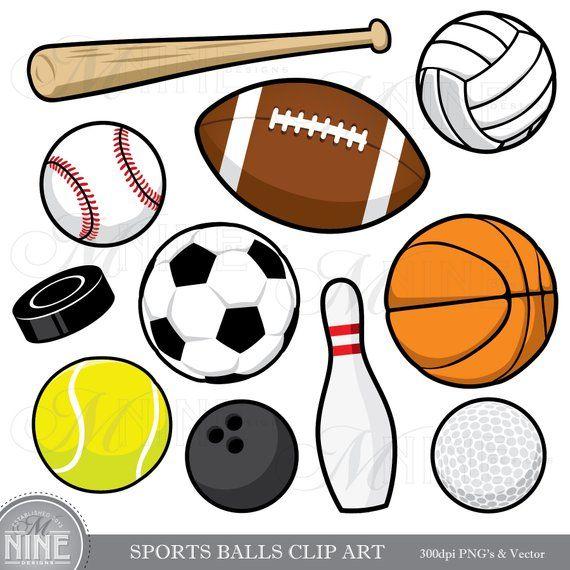 Baseballthemed clipart image black and white stock SPORTS BALLS Clip Art / Sports Balls Clipart Downloads / Sports ... image black and white stock