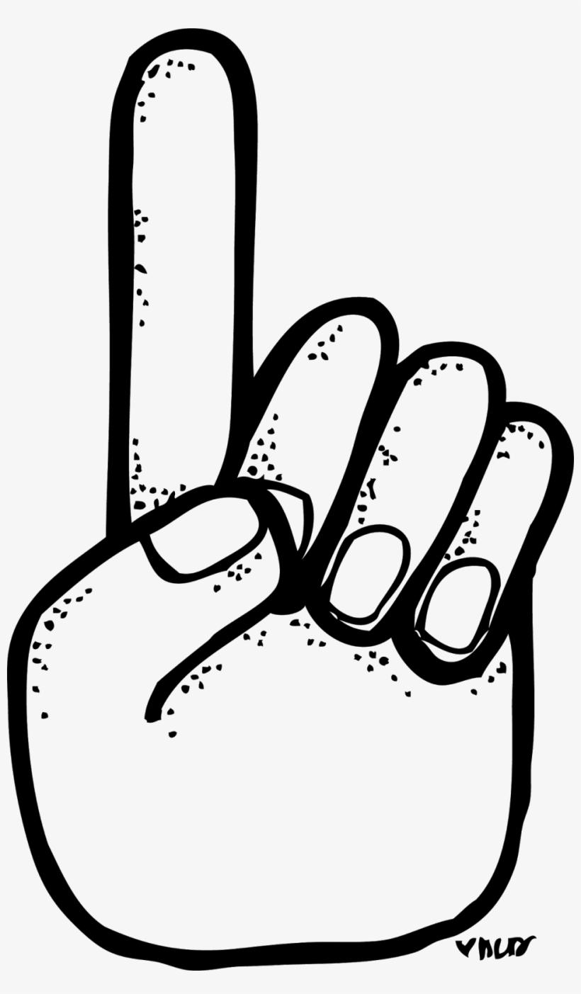 1 finger clipart free
