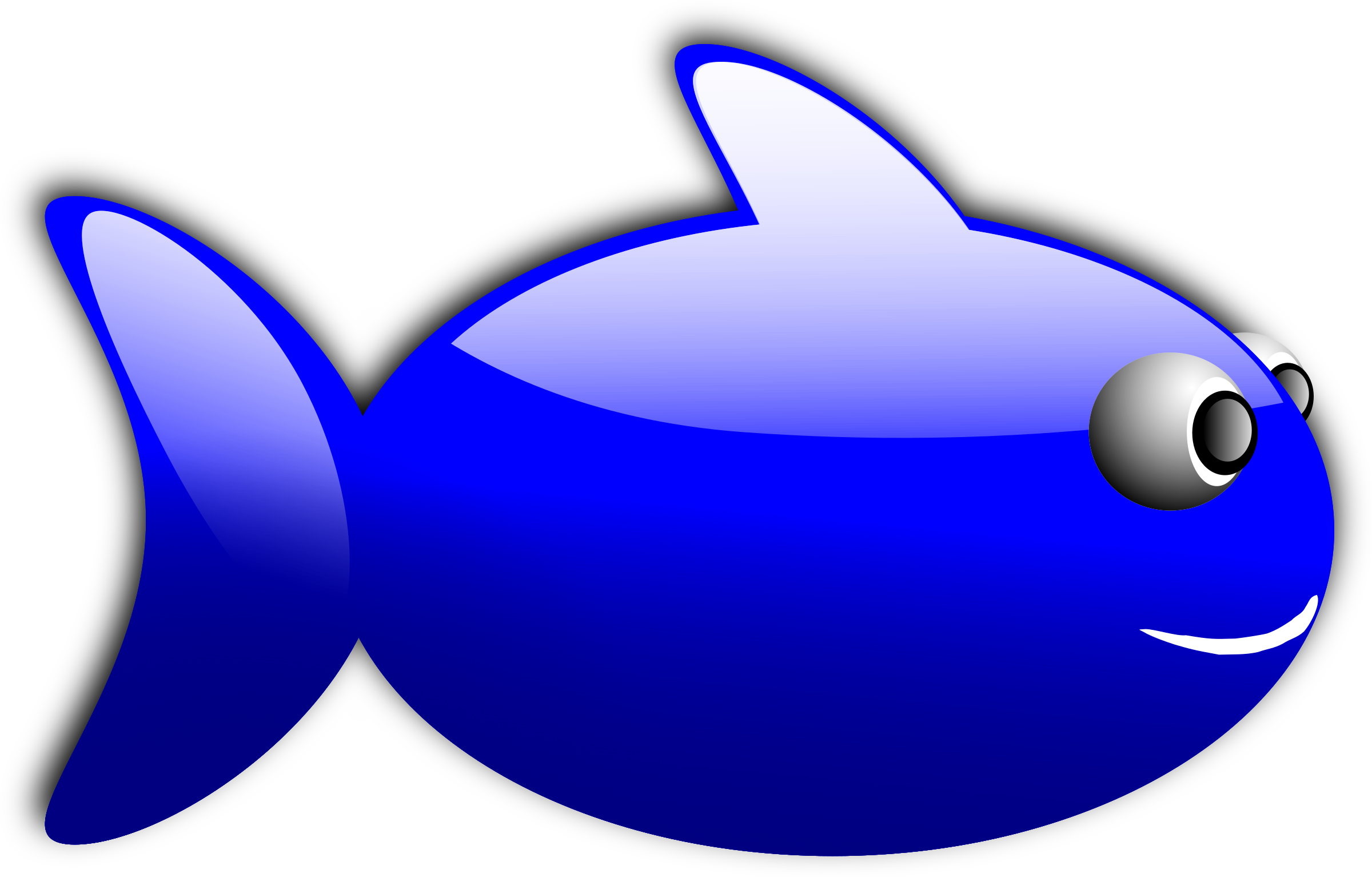 1 fish clipart clipart transparent download Clipart - Glossy fish 1 clipart transparent download