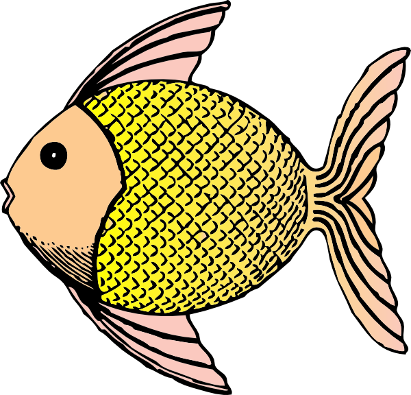 A fish in clipart clip art black and white stock Tropical Fish With Scales Clip Art at Clker.com - vector clip art ... clip art black and white stock