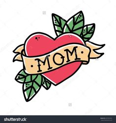 1 heart mom tattoo clipart clip art freeuse library 39 Best Mom Heart Tattoo Designs And Skull images in 2017 | Tattoos ... clip art freeuse library