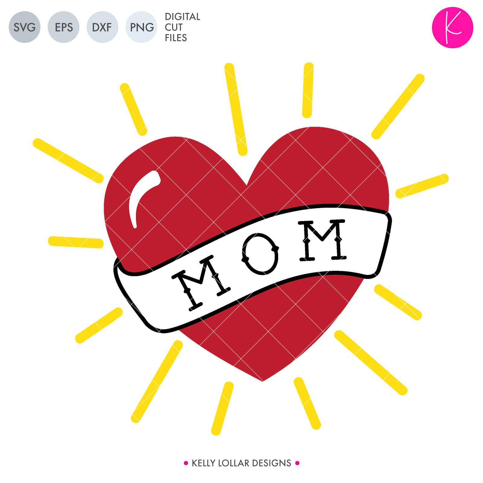 1 heart mom tattoo clipart image transparent download Mom Heart Tattoo | SVG DXF EPS PNG Cut Files image transparent download