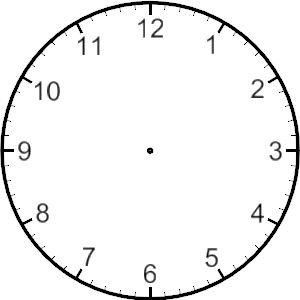 Top line clock on the phone clipart