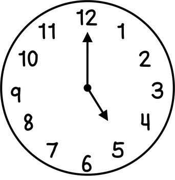 Clock clipart black and white clip download Clocks Clip Art: Hour & Half Hour | Miss First Grade\'s Products ... clip download